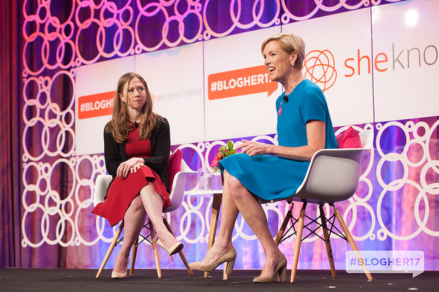 Chelsea Clinton and Planned Parenthood President Cecile R
