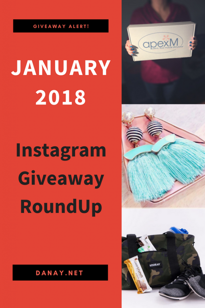 Instagram Giveaway Roundup Janunary 2018