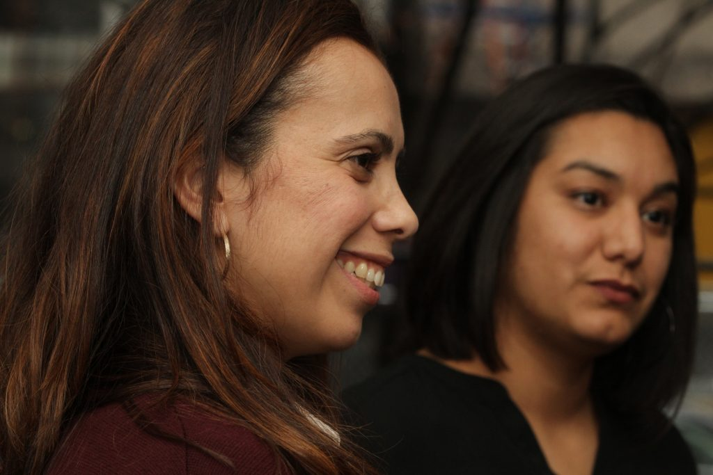 "Talyza Moya and Mercedes ""Meche"" Martinez listen to more stories about growing up Hispanic."
