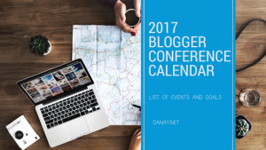 2017 Blogger Conference Calendar