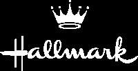 hallmark logo white